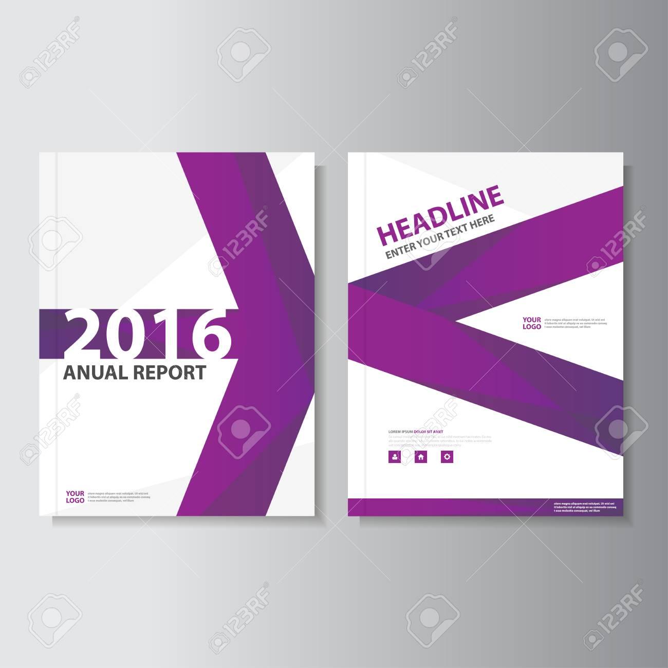 Purpurroter Vektorjahresbericht Broschüren-Broschüren ...