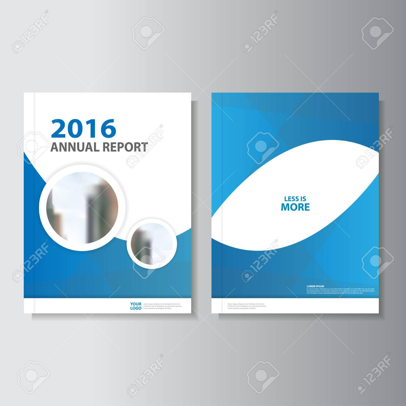 Blue Circle Annual Report Leaflet Brochure Flyer Template Design - Brochure flyer templates