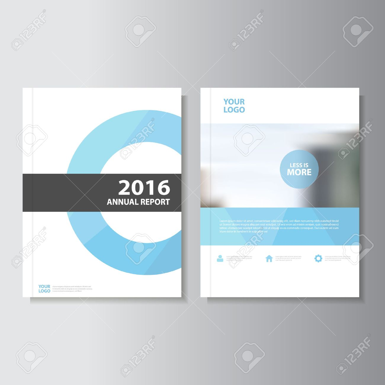 Blue Vector annual report Leaflet Brochure Flyer template design, book cover layout design, Abstract blue presentation templates - 54786565