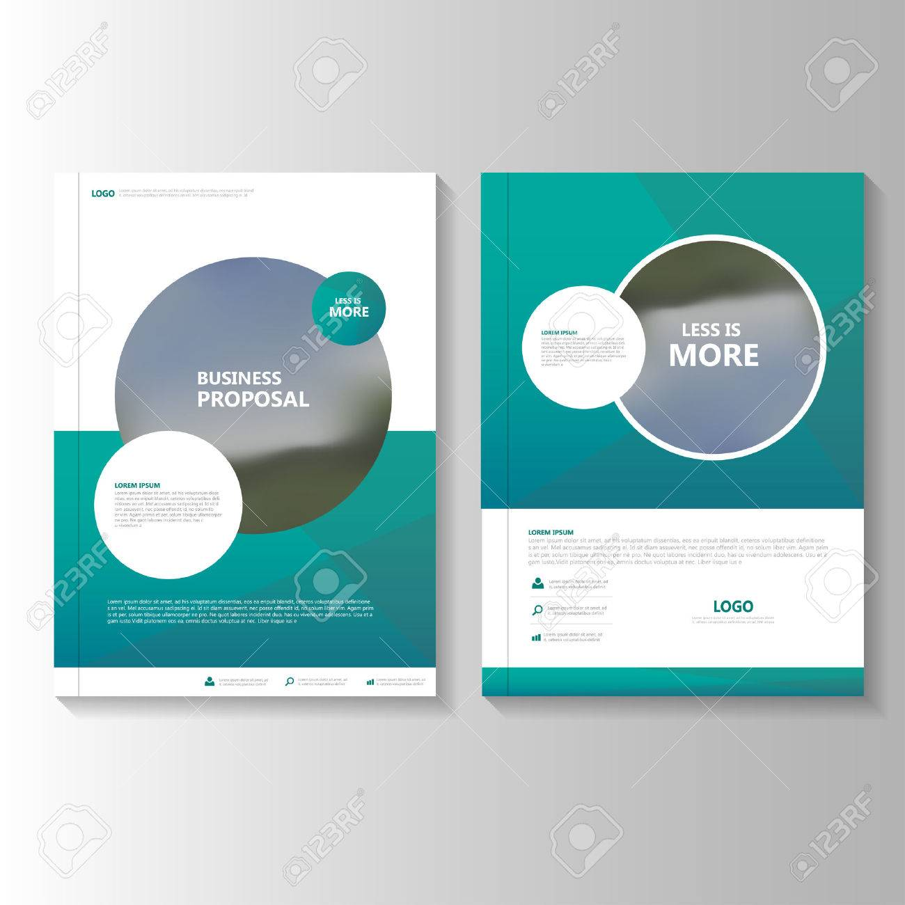circle green vector annual report leaflet brochure flyer template design book cover layout design