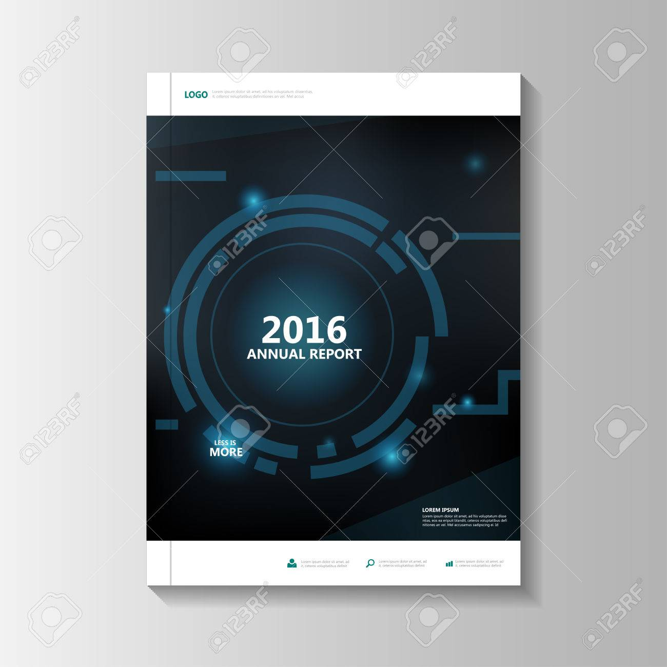 Blue Technology Vector Annual Report Leaflet Brochure Flyer Template ...