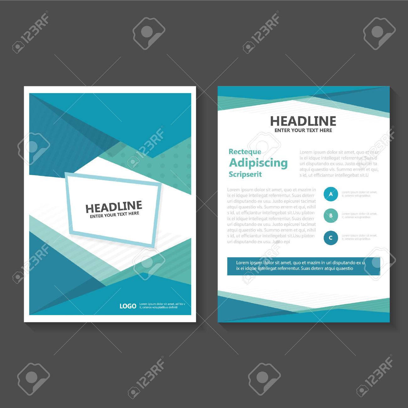 green business brochure flyer template design book cover layout