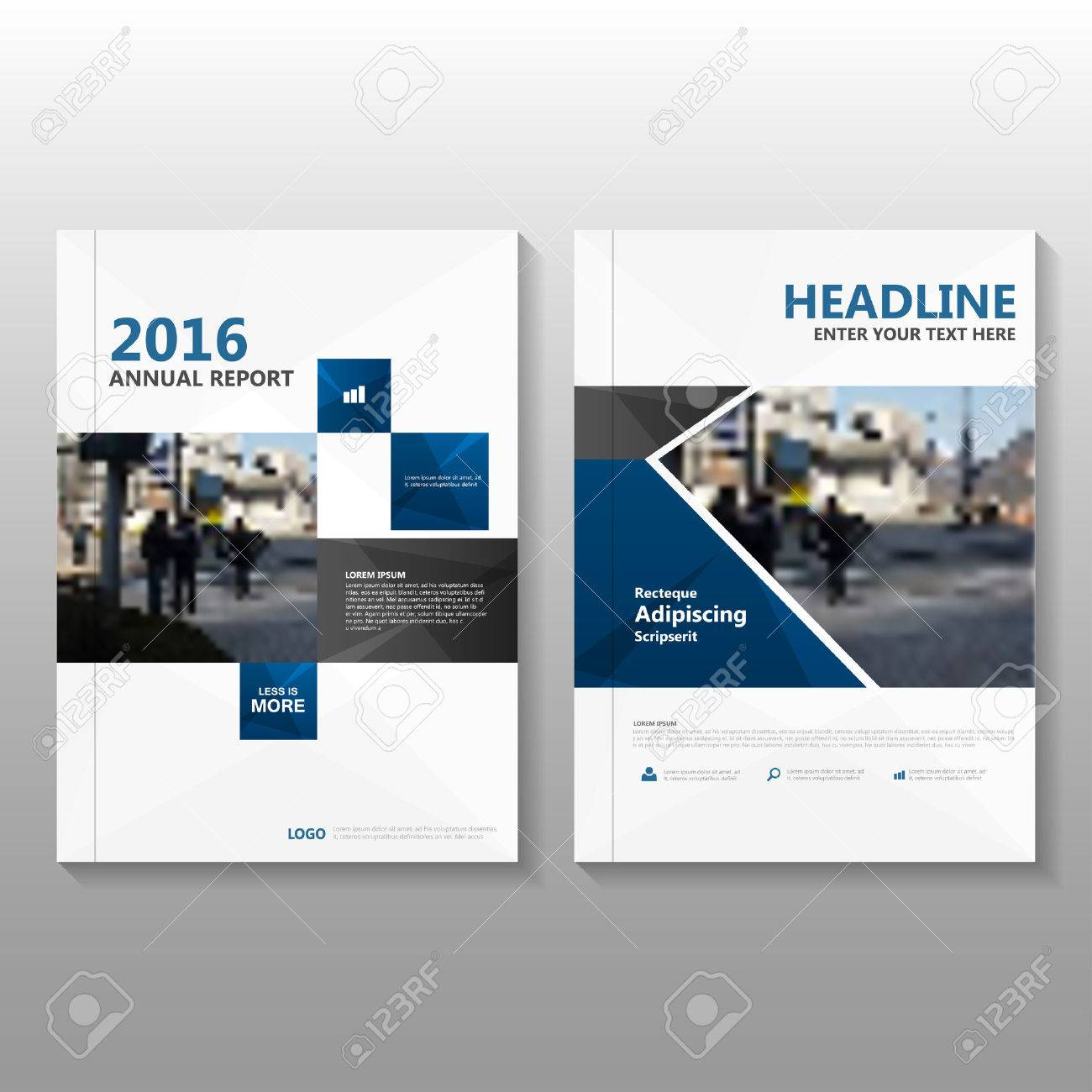 Blue Vector annual report Leaflet Brochure Flyer template design, book cover layout design, Abstract blue presentation templates - 54786000