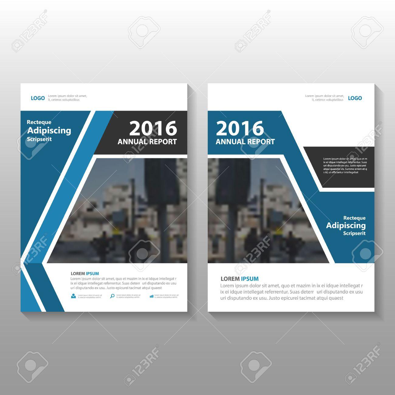 Blau Schwarz Vector Jahresbericht Prospekt Broschüre Flyer Template ...