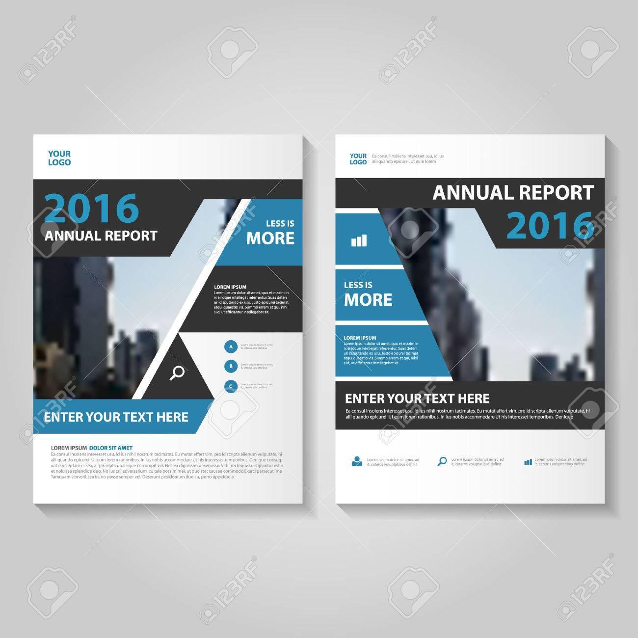 Elegance Blue Black Annual Report Leaflet Brochure Template Design