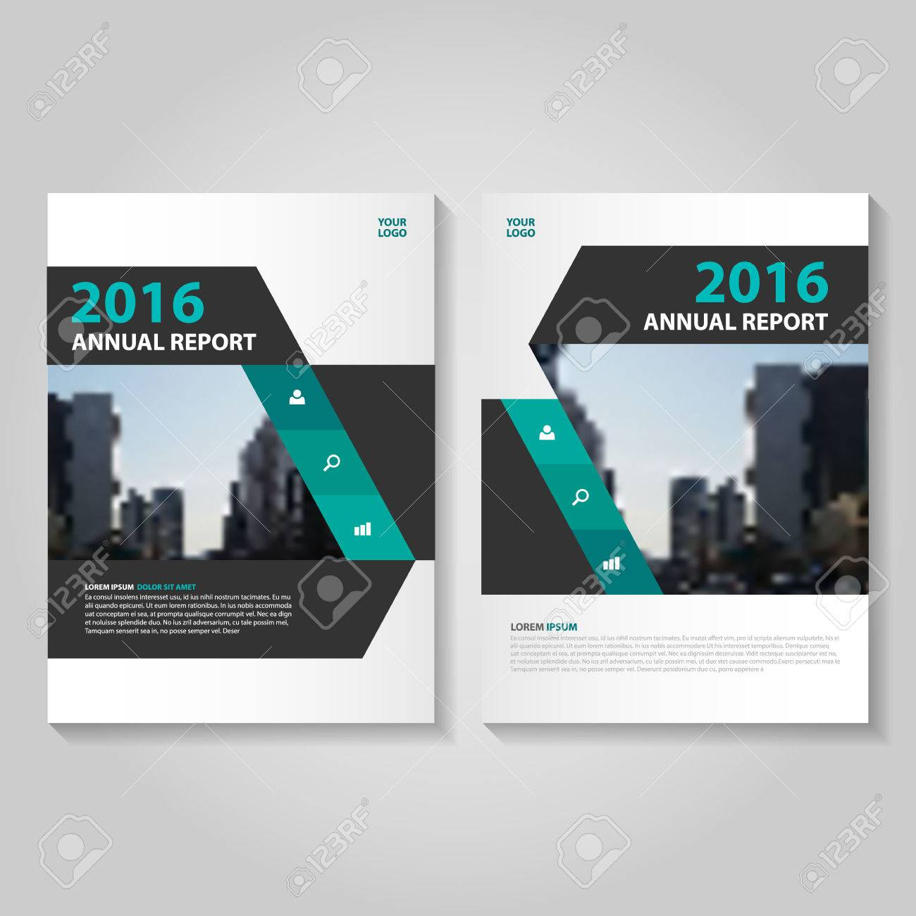 elegance green black annual report leaflet brochure template design book cover layout design abstract