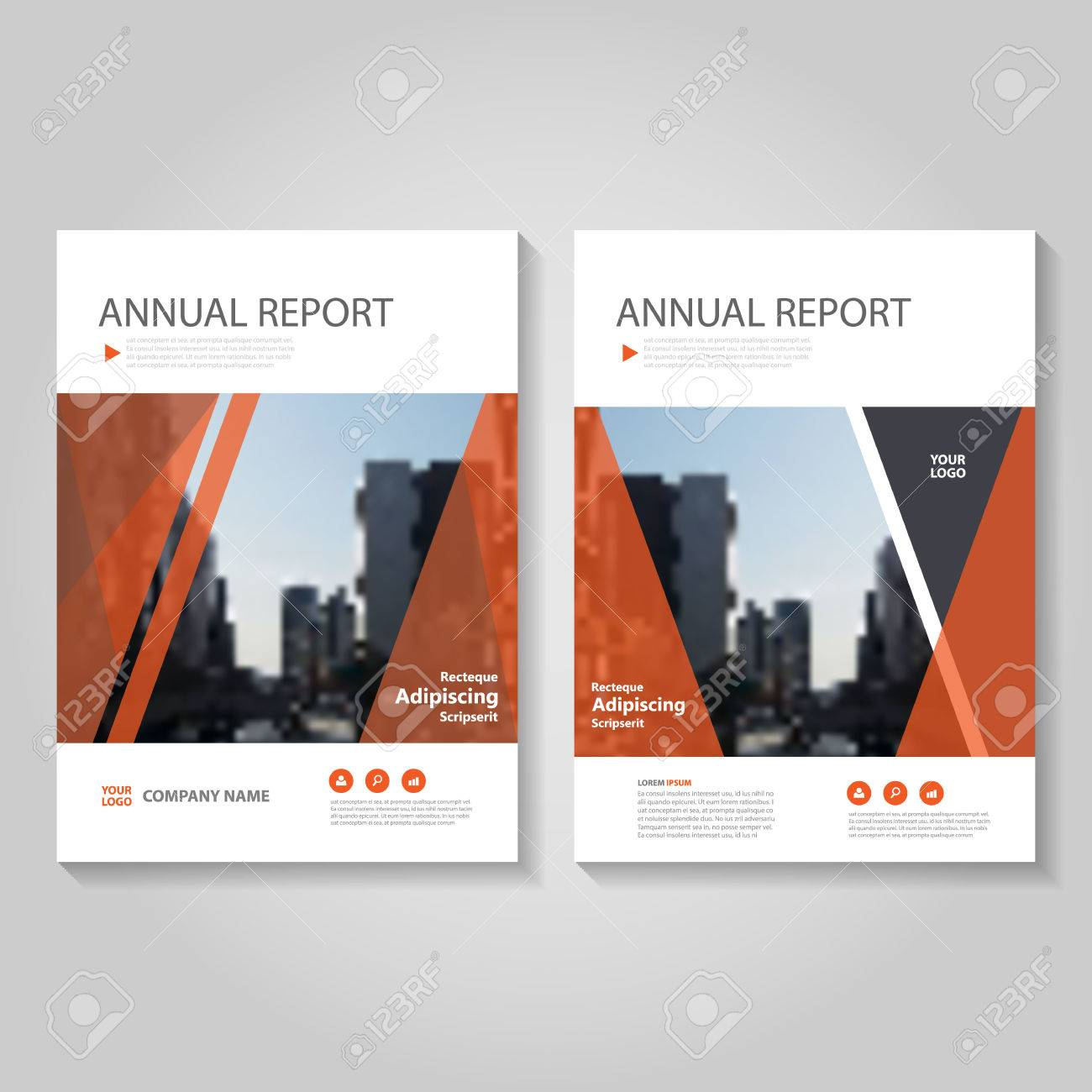Red Black Triangle Vector Annual Report Leaflet Brochure Flyer ...