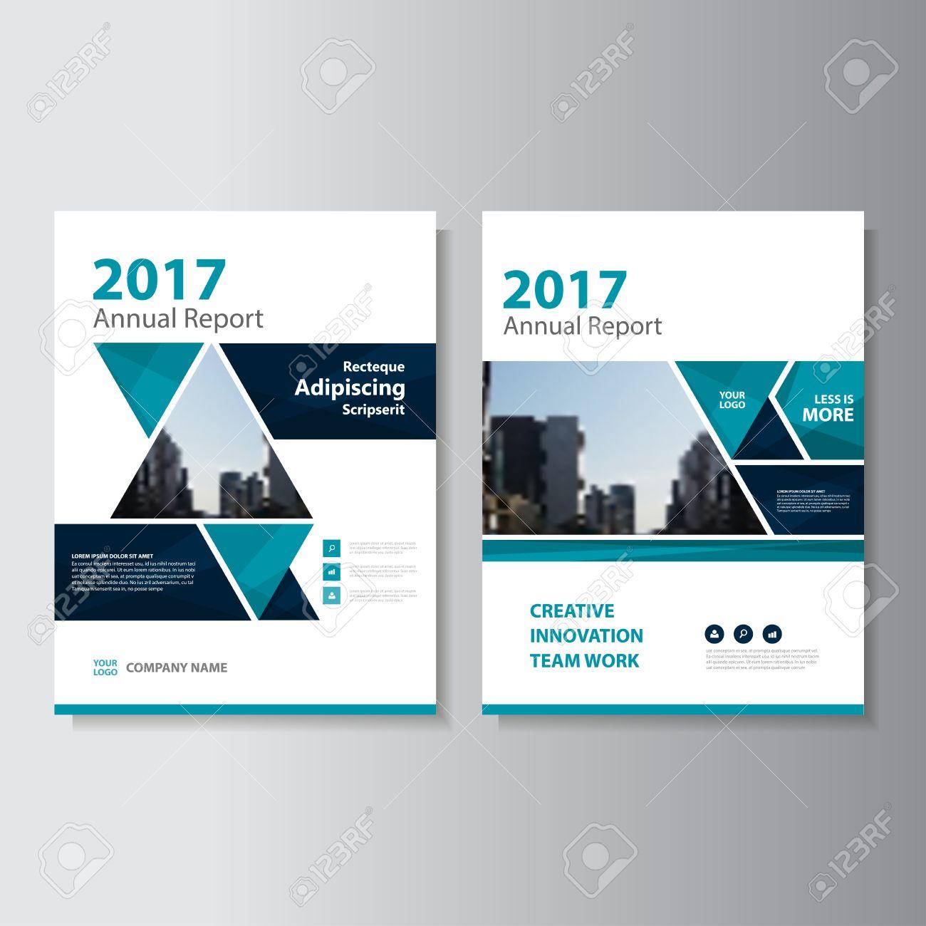 Triangle Blue Vector Jahresbericht Prospekt Broschüre Flyer Template ...