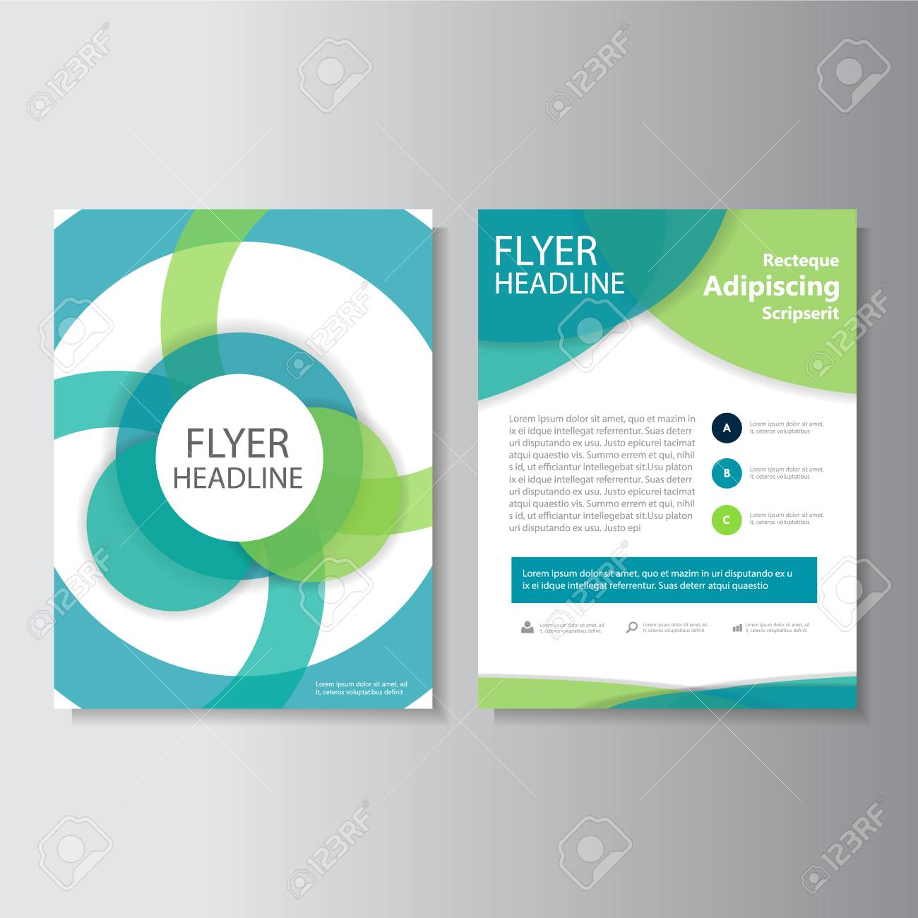 circle vector leaflet brochure flyer template design book cover layout design abstract circle presentation