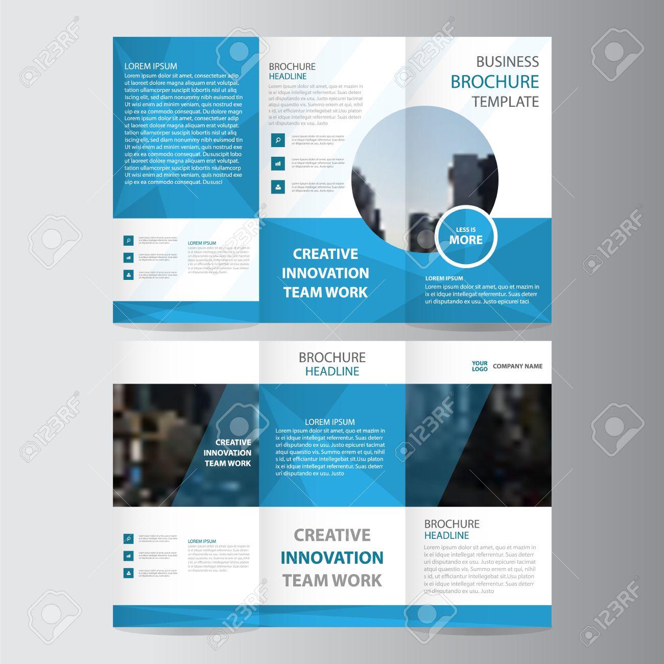 Blue elegance business trifold business leaflet brochure flyer blue elegance business trifold business leaflet brochure flyer template vector minimal flat design set stock vector friedricerecipe Gallery