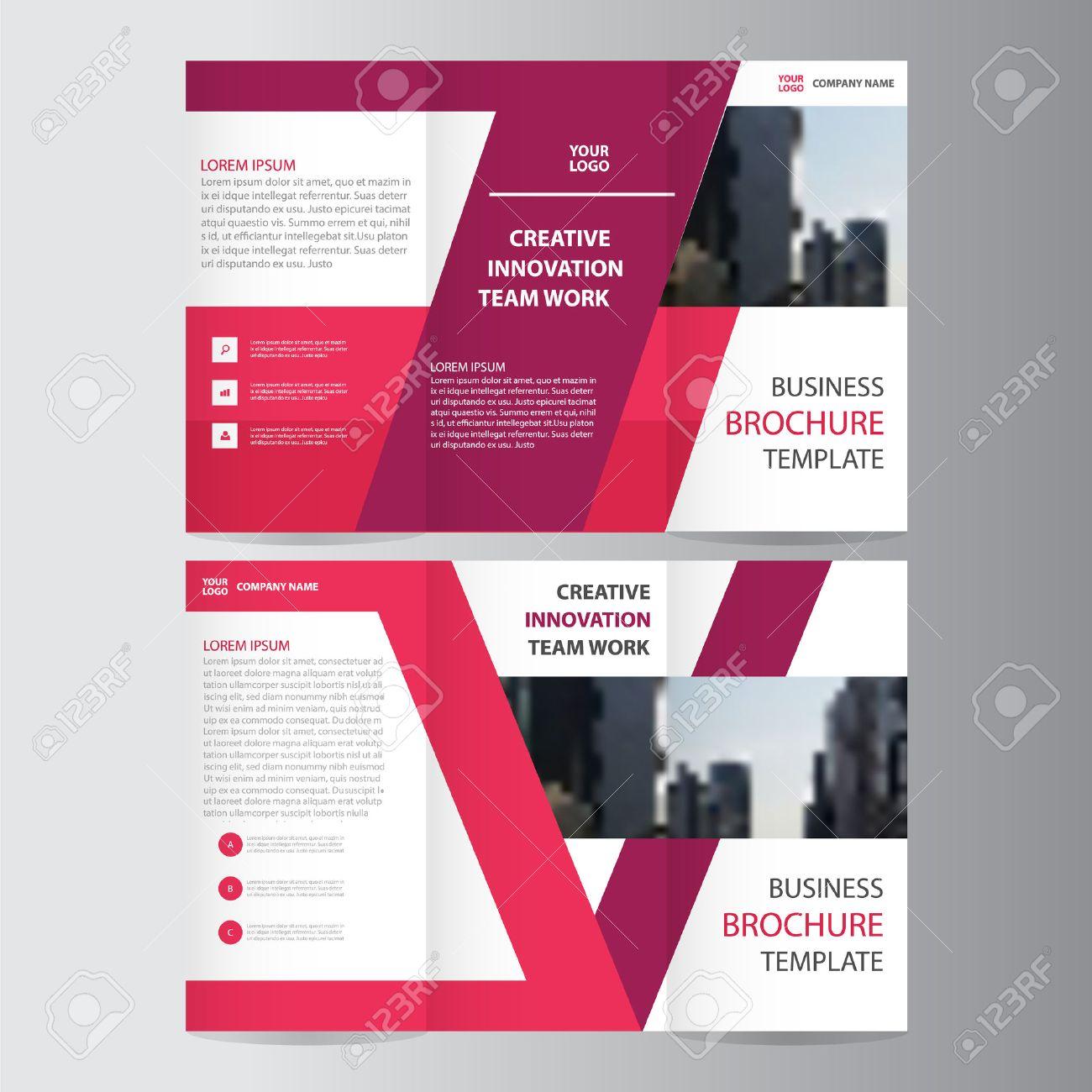 Pink Purple Elegance Business Trifold Business Leaflet Brochure