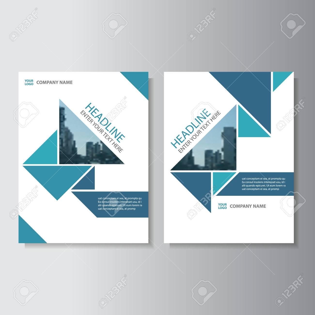 Blue Triangle Vector Informe Anual Folleto Folleto Folleto Diseño De ...
