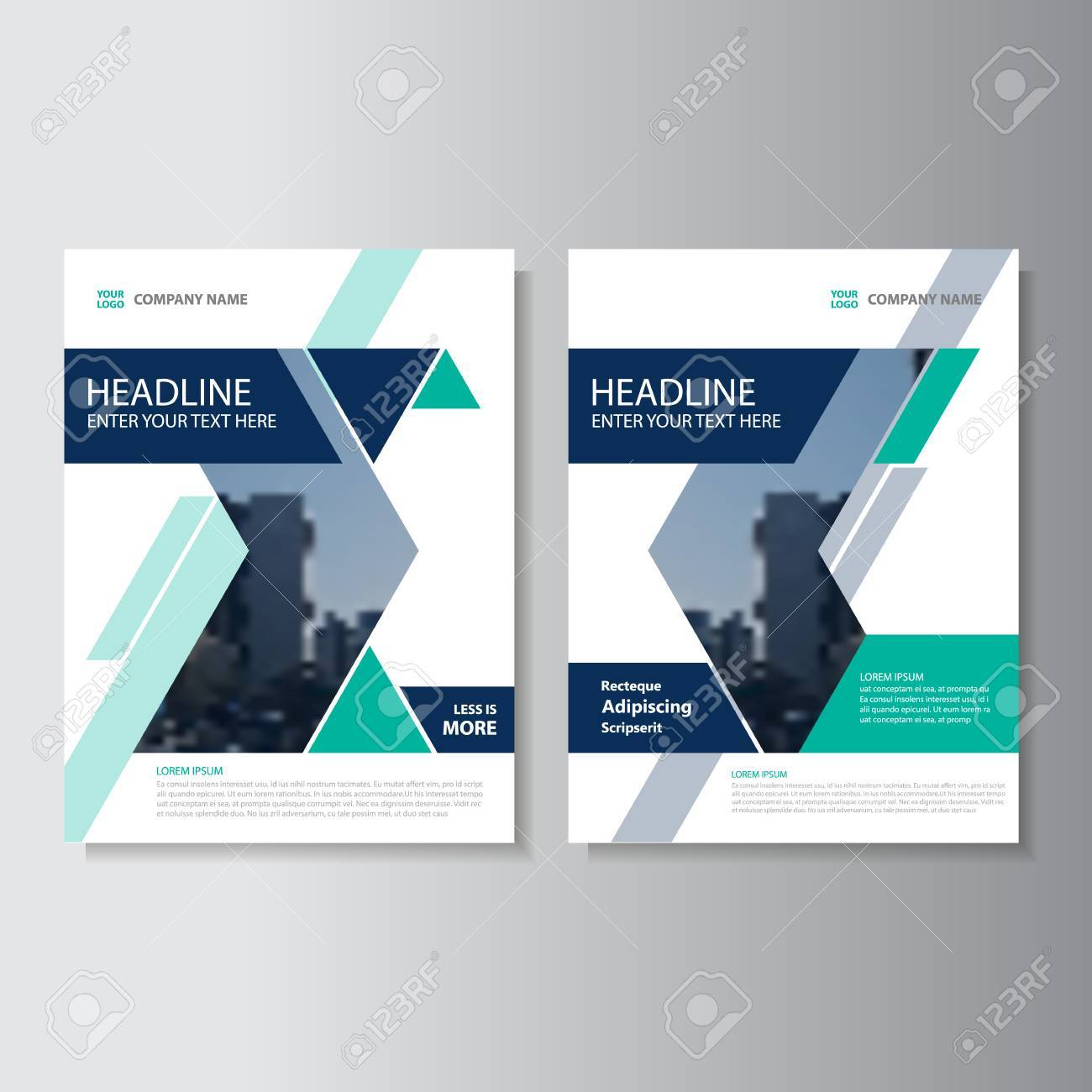 Blau Grüne Dreieck Vector Jahresbericht Prospekt Broschüre Flyer ...