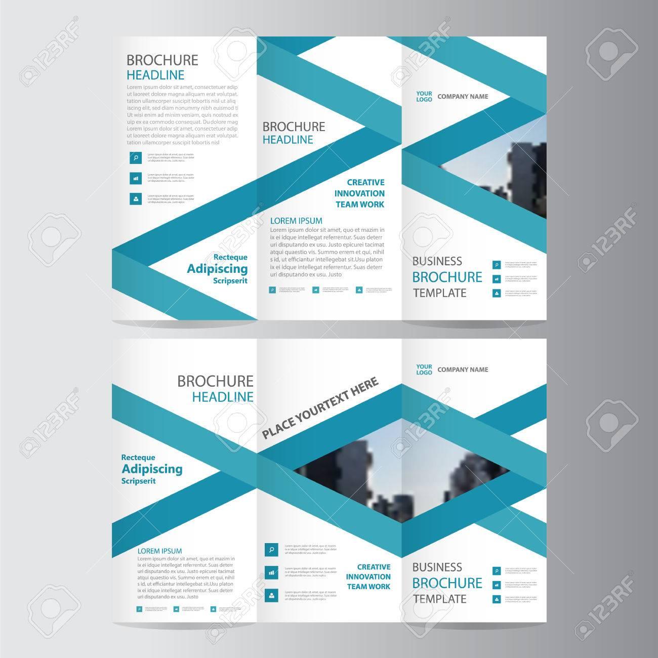 Blue Elegance Business Trifold Business Leaflet Brochure Template