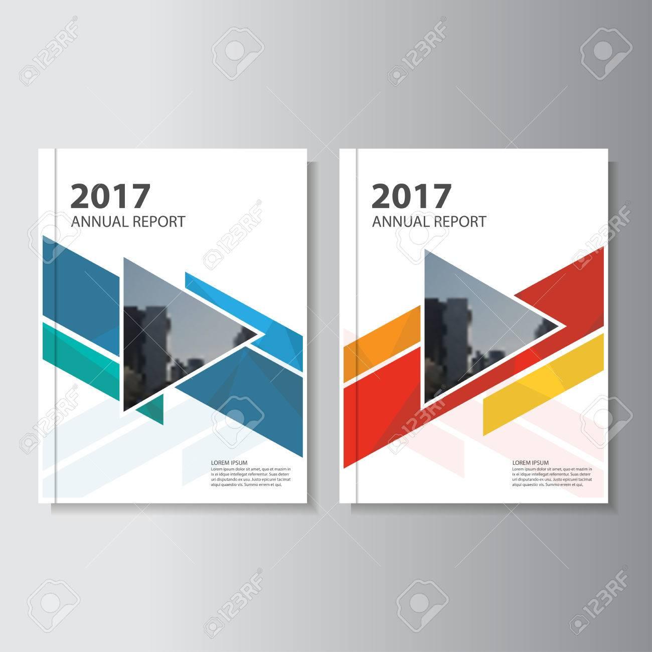 Informe Anual Folleto Folleto De Diseño Colorido Plantilla, Diseño ...