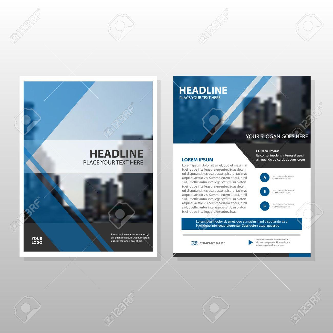 Blue Vector Informe Anual Folleto Folleto Folleto Diseño De La ...
