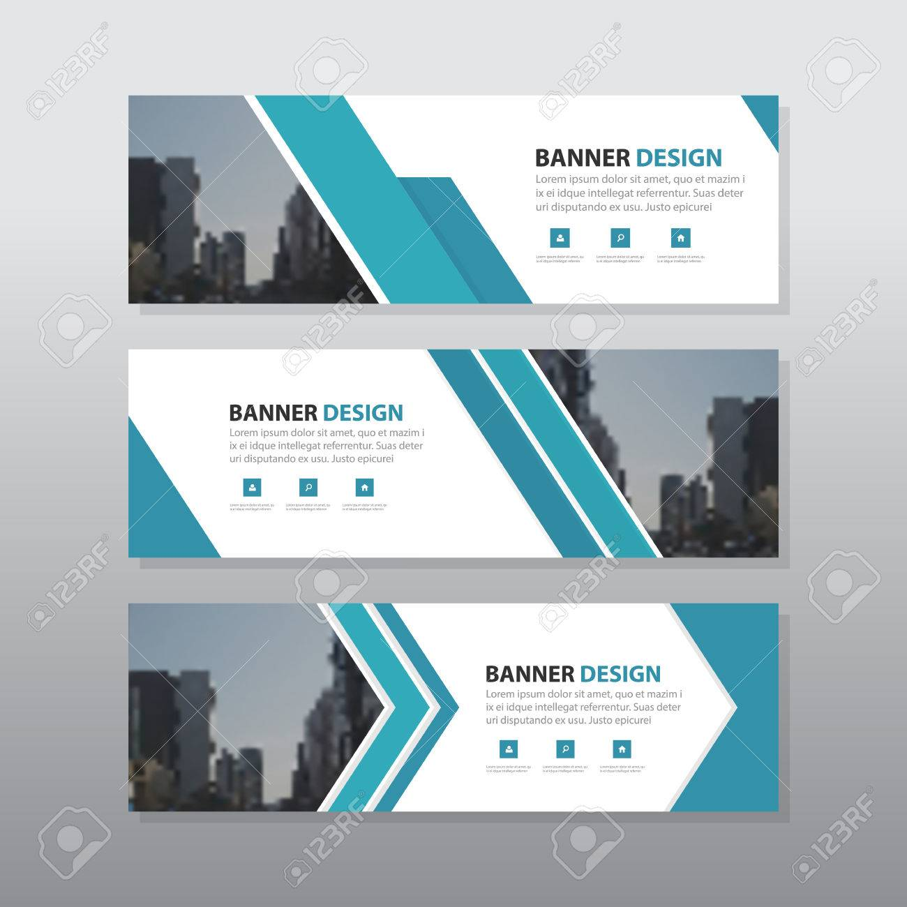 blue triangle abstract corporate business banner template