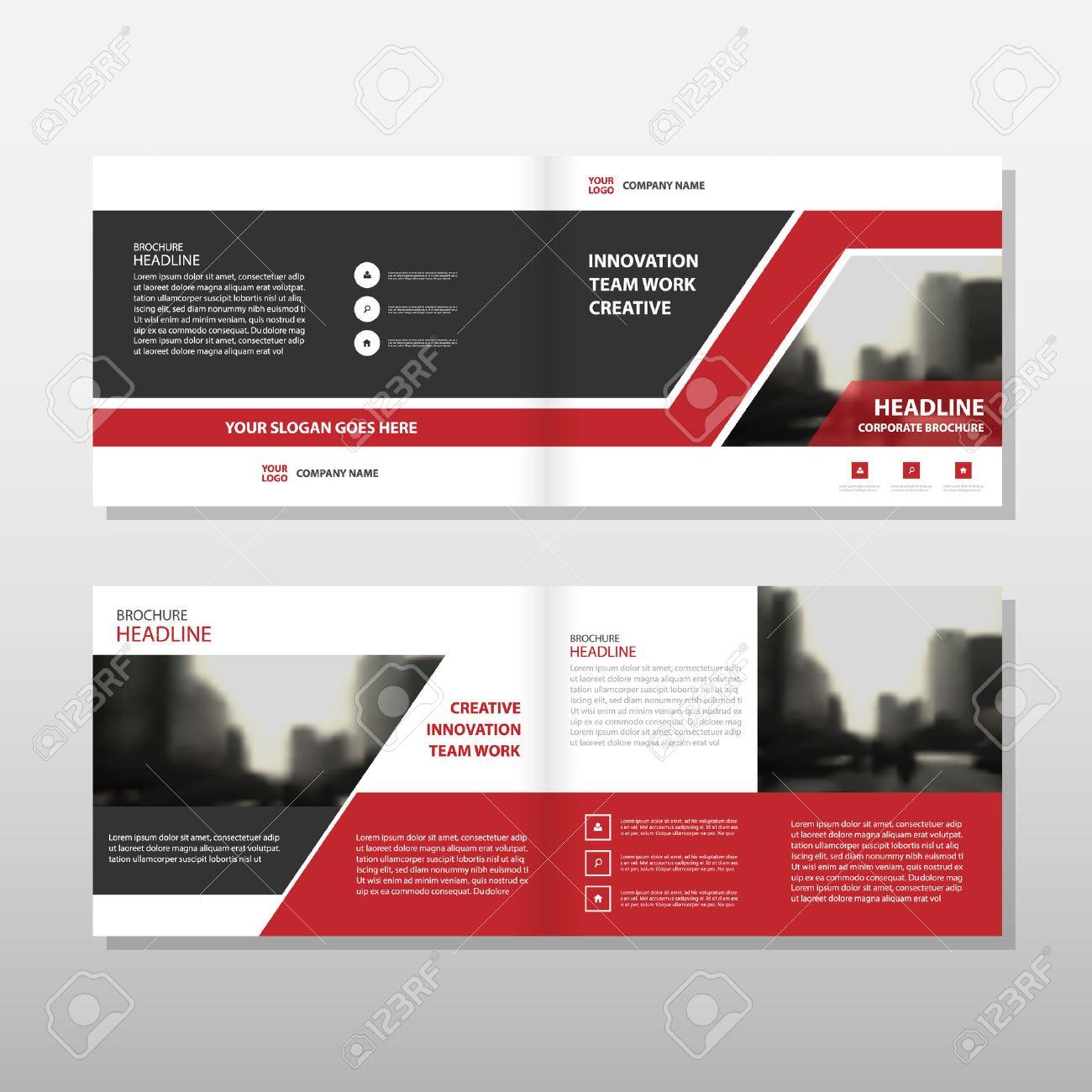 Triángulo Negro Rojo Del Vector Informe Anual Folleto Folleto ...