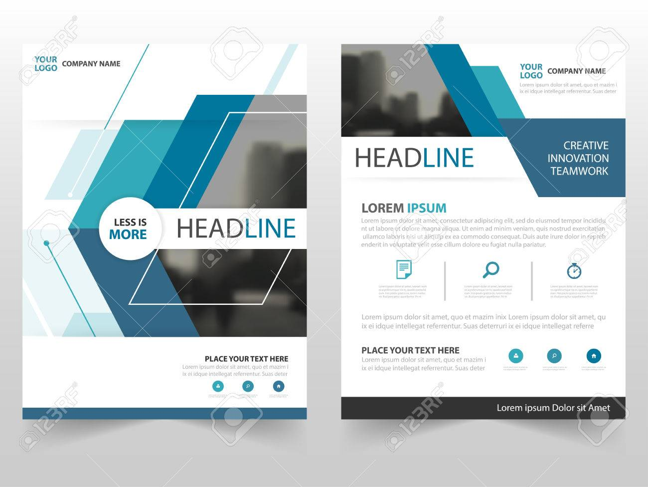Blue Technology Business Brochure Leaflet Flyer Annual Report Template  Design, Book Cover Layout Design,
