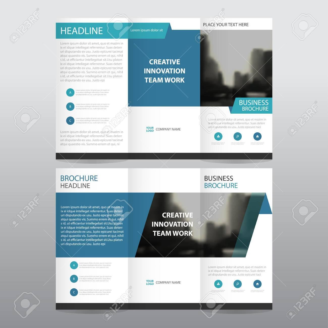 Blau Business Trifold Prospekt Broschüre Flyer Bericht Vorlage ...