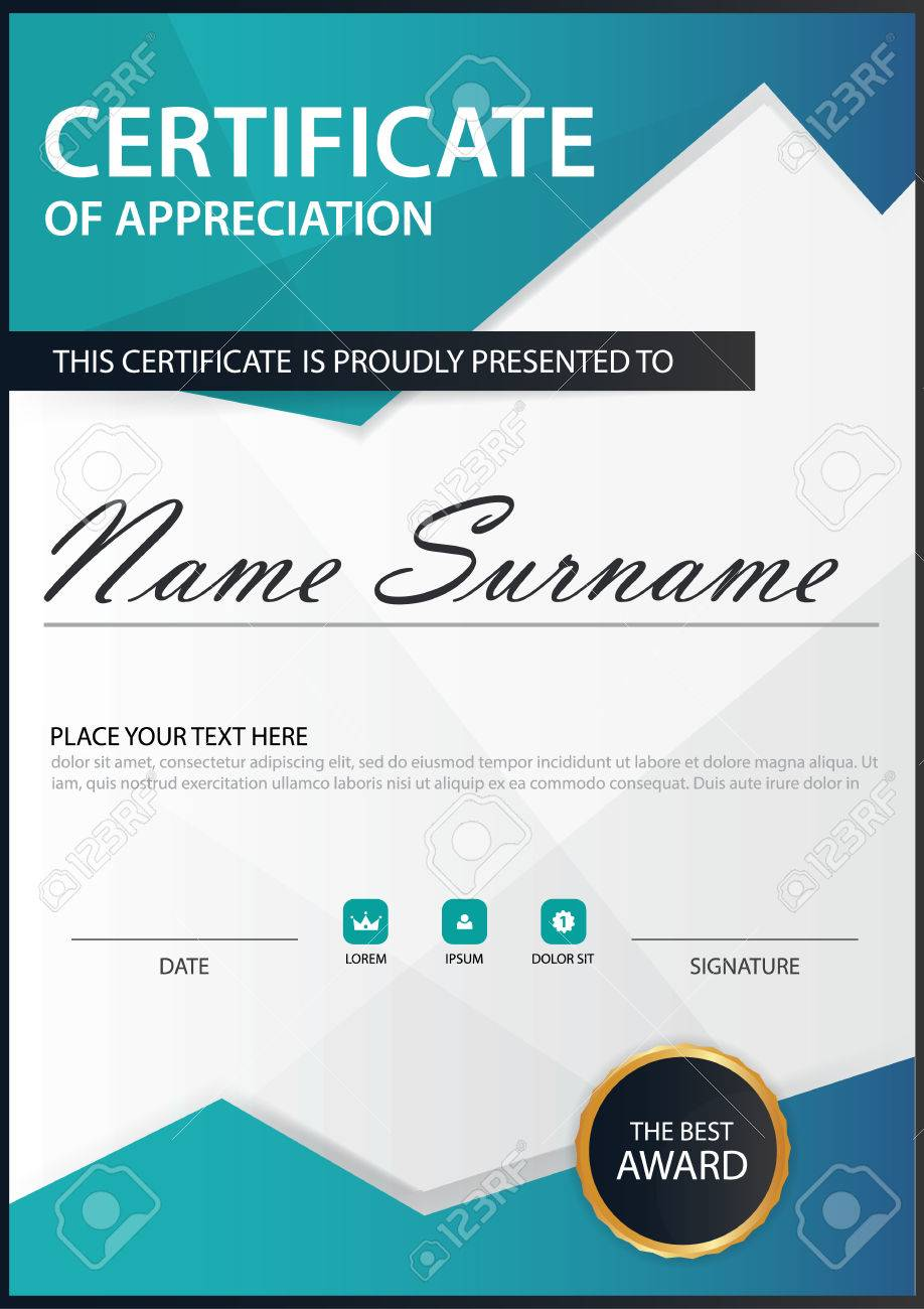 Blue polygon elegance vertical certificate with vector illustration blue polygon elegance vertical certificate with vector illustration white frame certificate template with clean and yelopaper Gallery