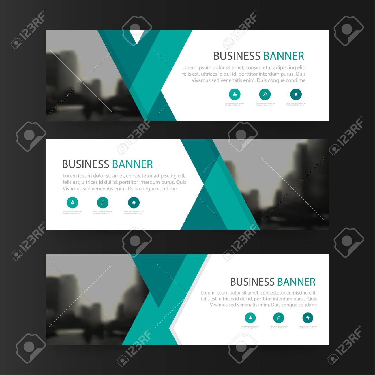 green abstract triangle corporate business banner template horizontal advertising business banner layout template flat design