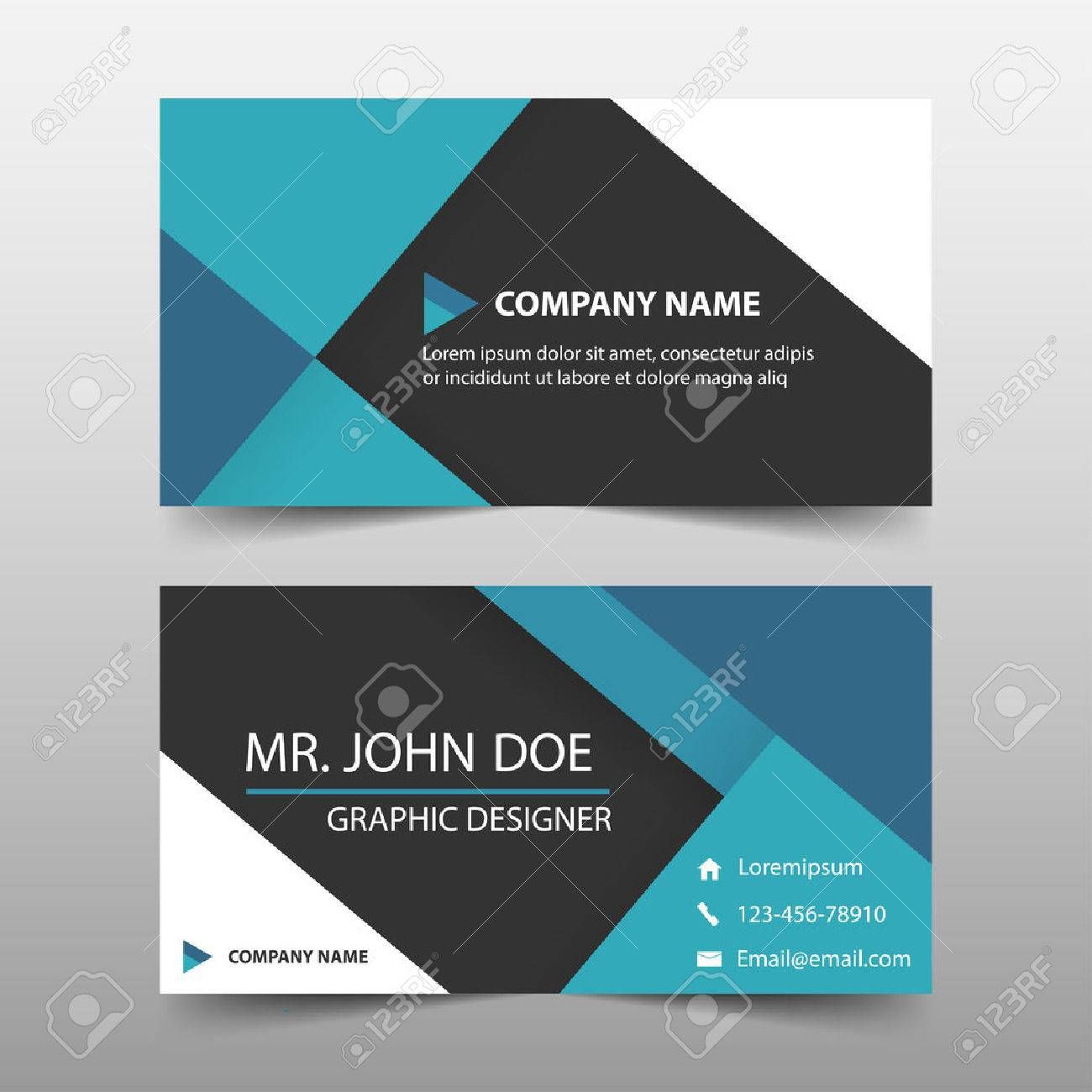 Blue corporate business card name card template horizontal blue corporate business card name card template horizontal simple clean layout design template friedricerecipe Gallery