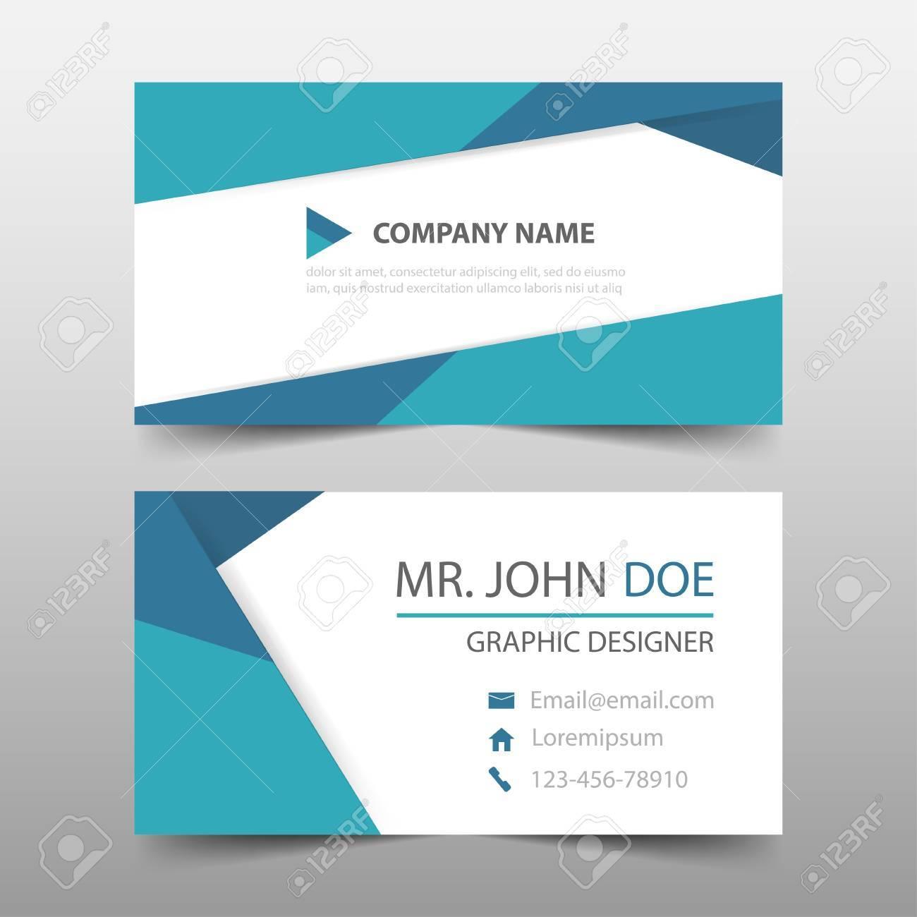 carte de visite entreprise Triangle Bleu Carte De Visite D'entreprise, Modèle De Carte De