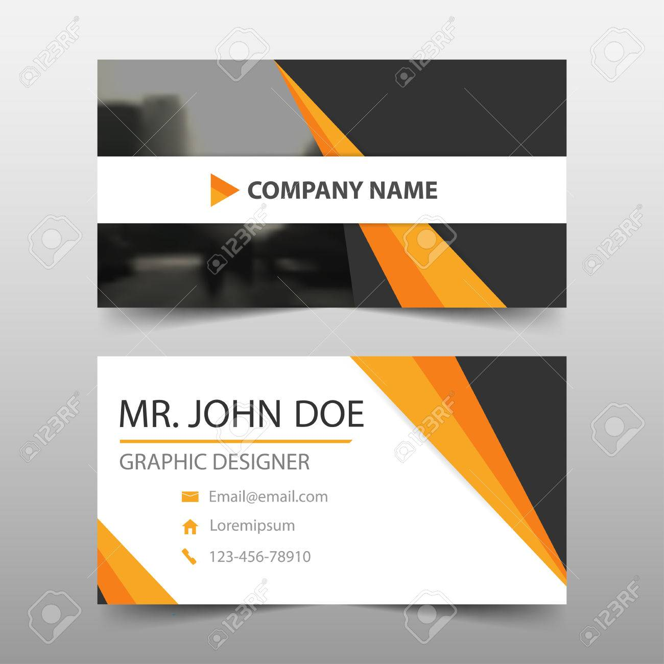 Orange black corporate business card name card template horizontal orange black corporate business card name card template horizontal simple clean layout design template colourmoves