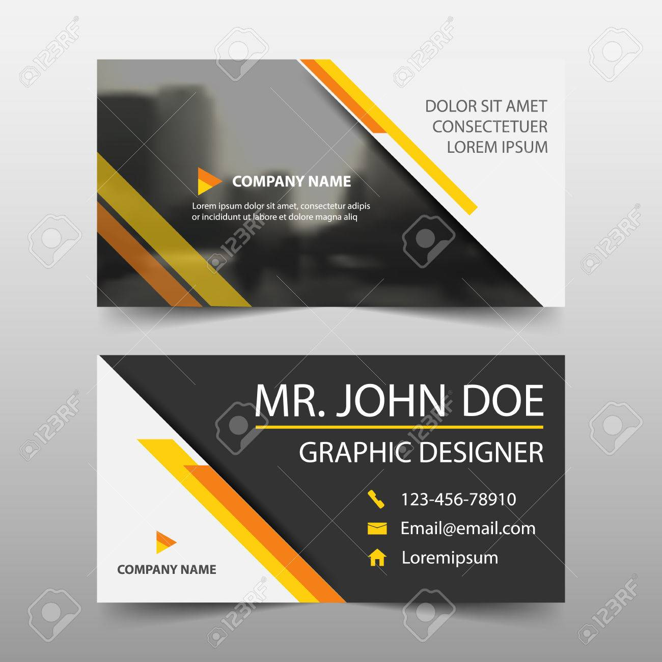 Yellow corporate business card name card template horizontal vector yellow corporate business card name card template horizontal simple clean layout design template business banner template for website fbccfo Gallery