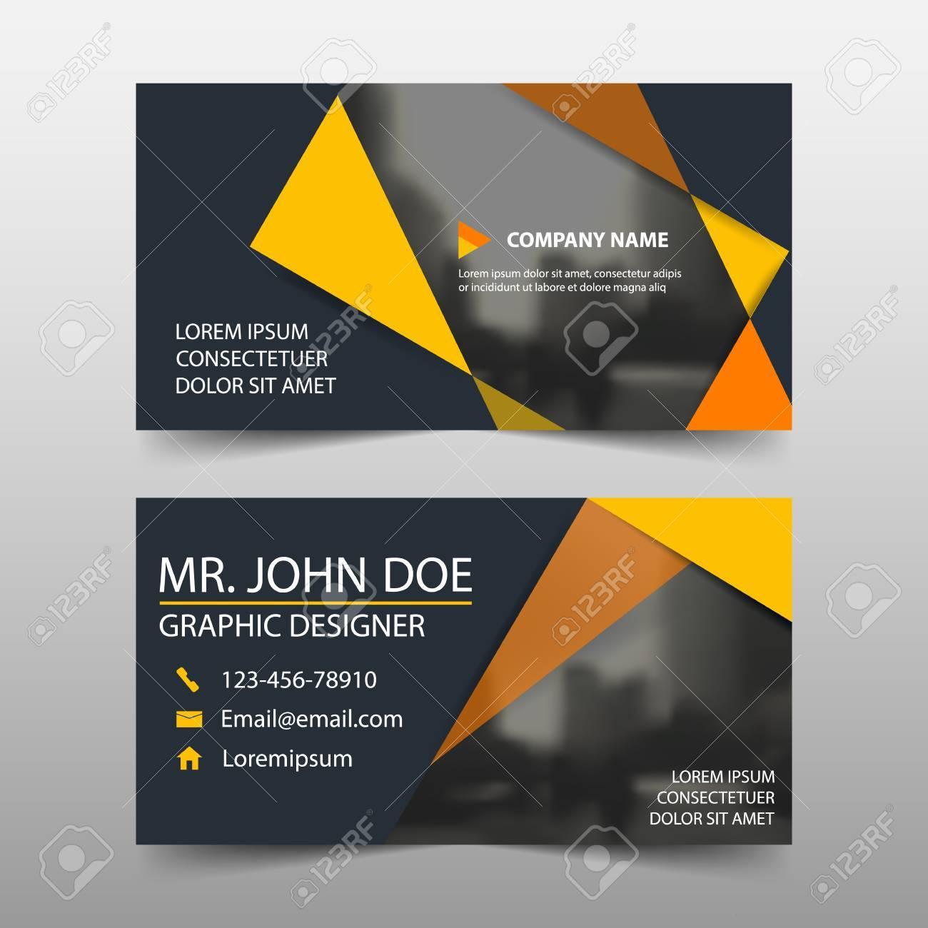 Orange Corporate Business Card, Name Card Template ,horizontal ...