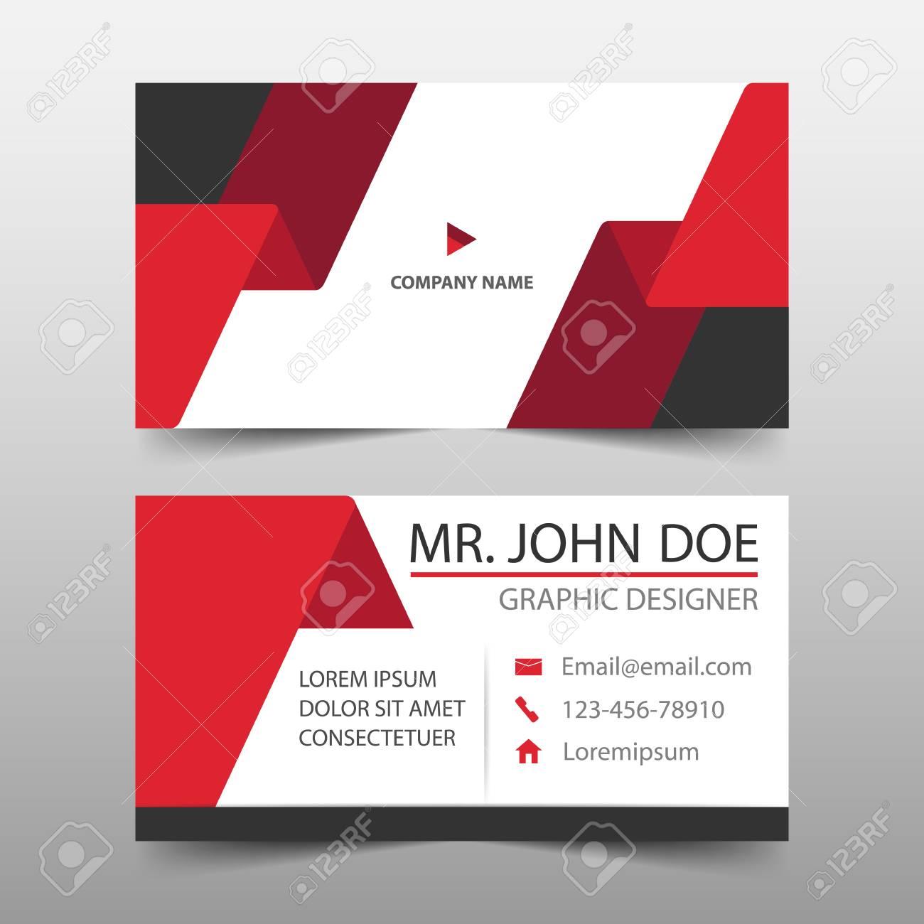 tarjeta de visita corporativa de etiqueta roja plantilla de tarjeta