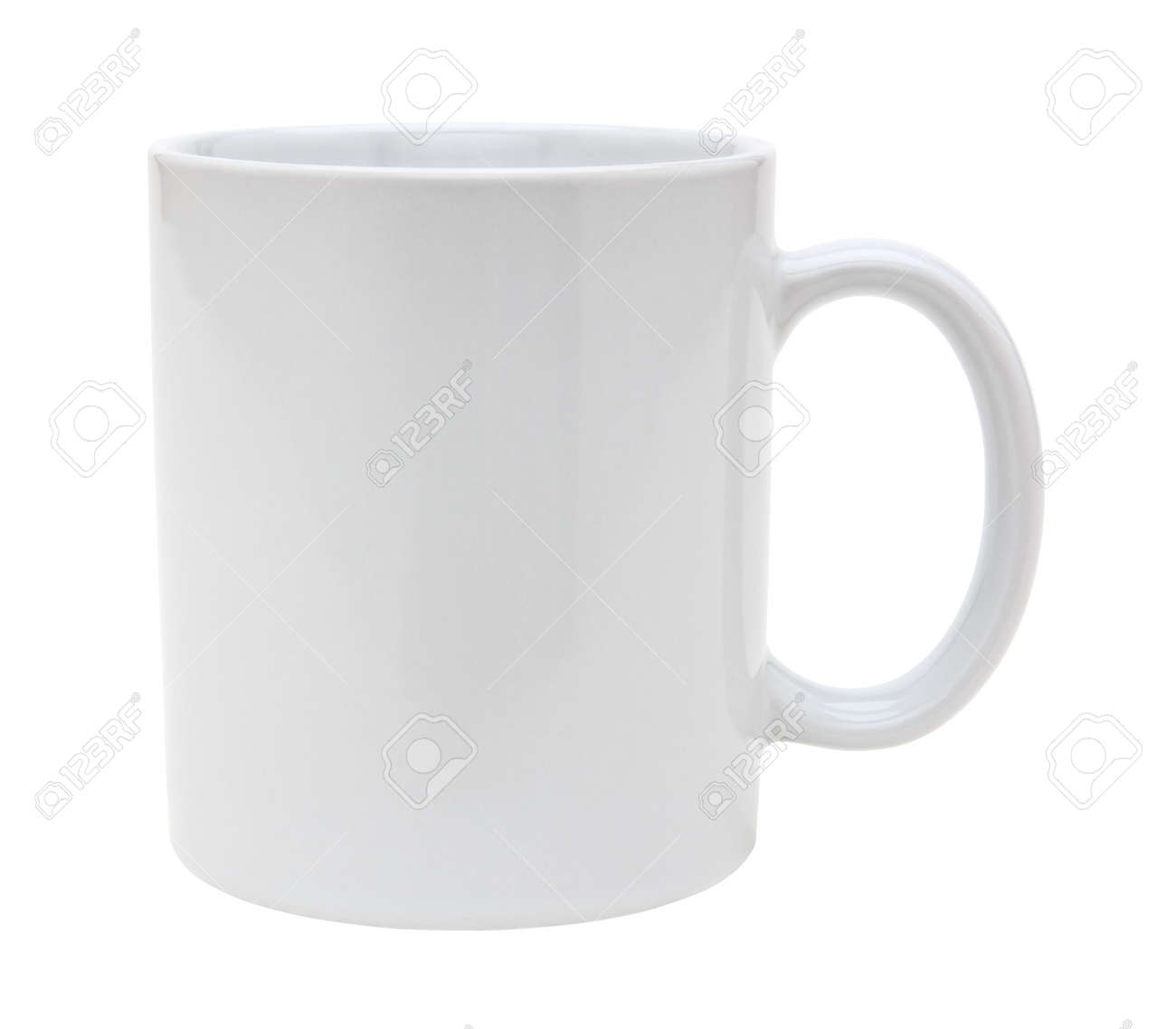 White mug empty blank for coffeó or tea isolated on white background with clipping path Stock Photo - 3572300