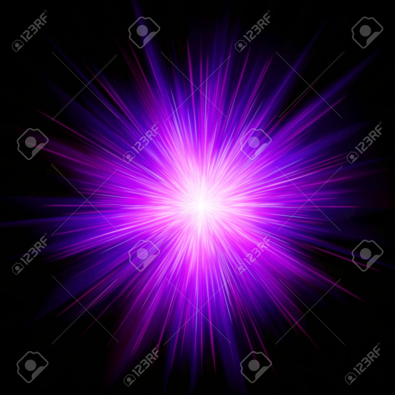 Magenta star burst Stock Photo - 5090529