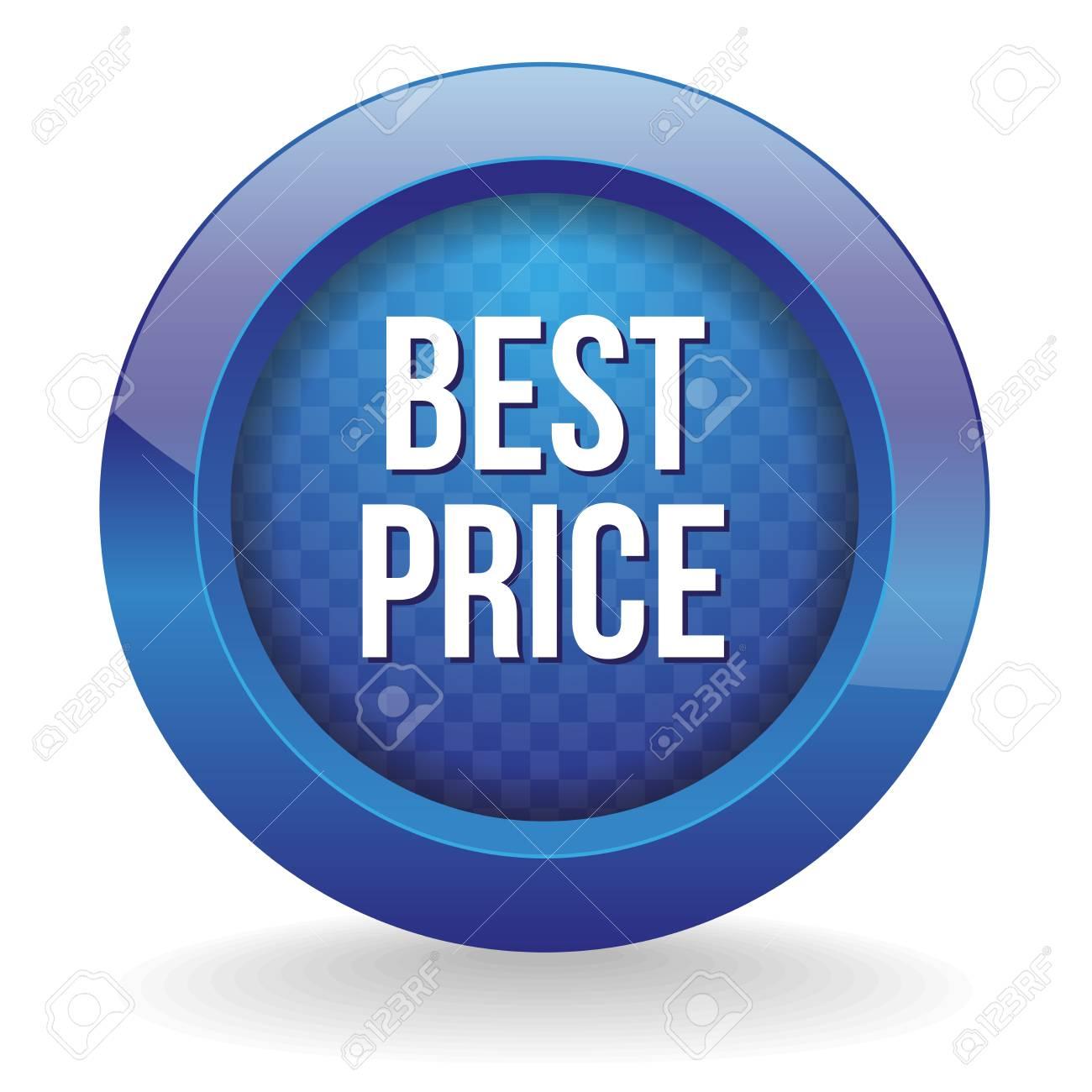 Blue round best price button Stock Vector - 24902364