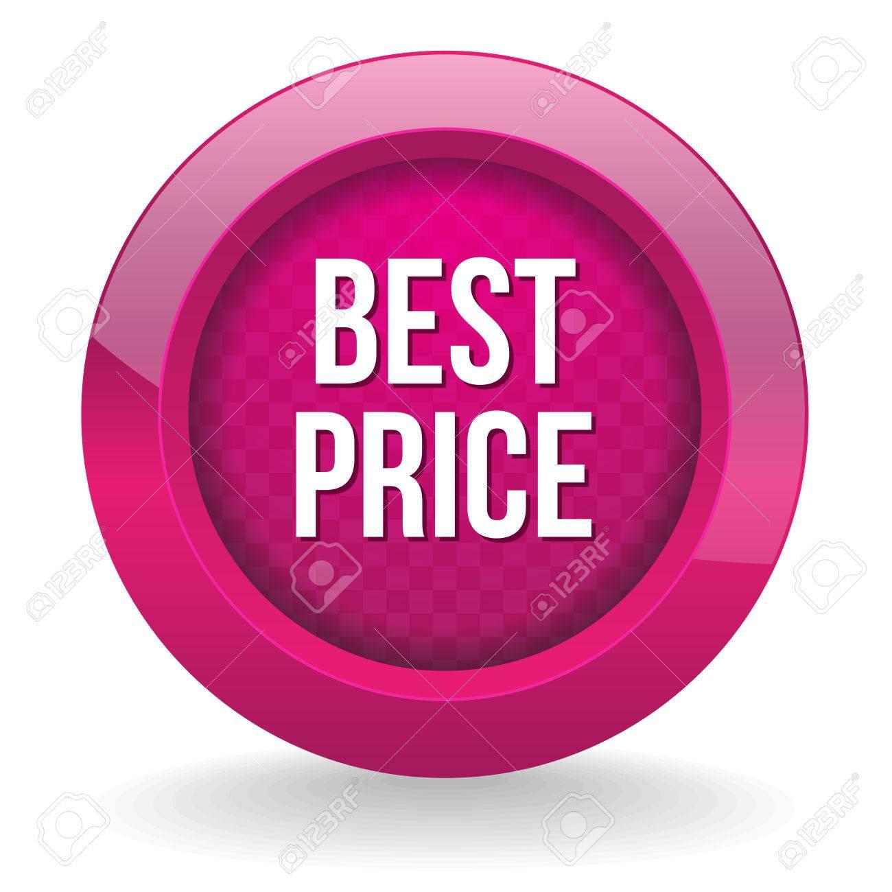 Purple round best price button Stock Vector - 24902366