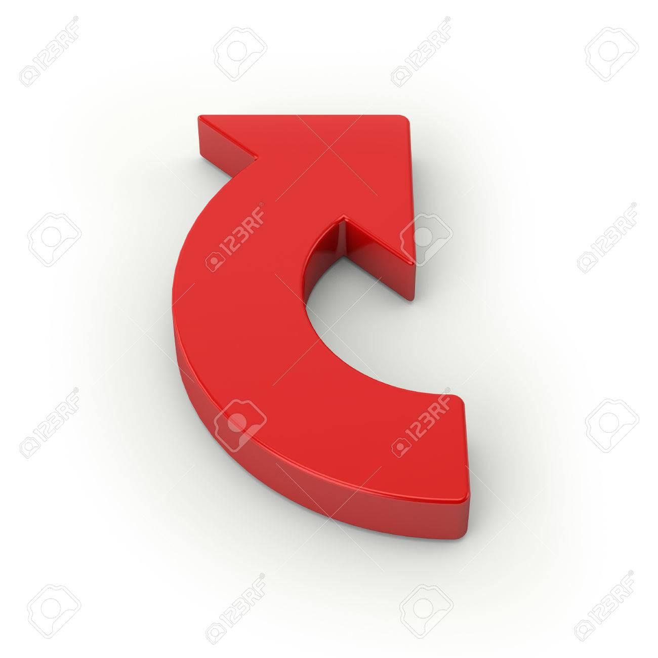 Big red arrow on white background Stock Photo - 28469041