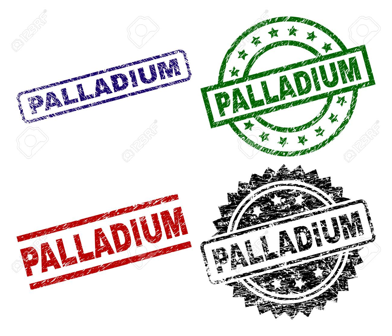 olika stilar Storbritannien bra erbjudanden 2017 PALLADIUM Seal Prints With Corroded Texture. Black, Green,red,blue ...
