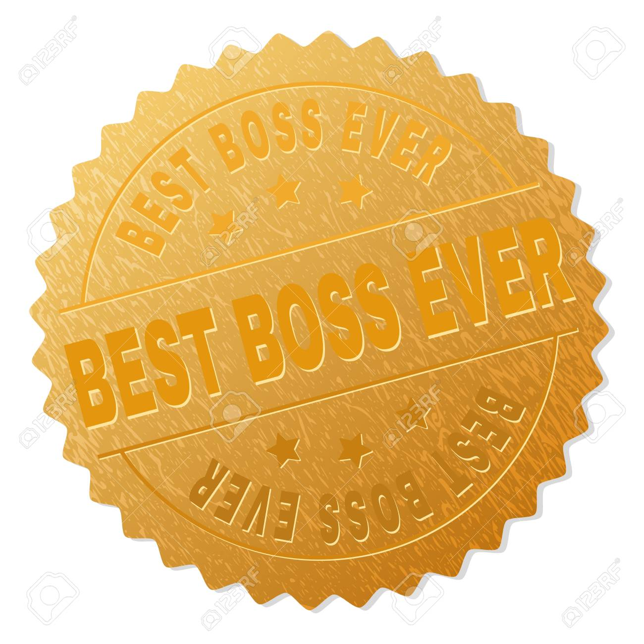 best boss ever gold stamp award vector gold award with best