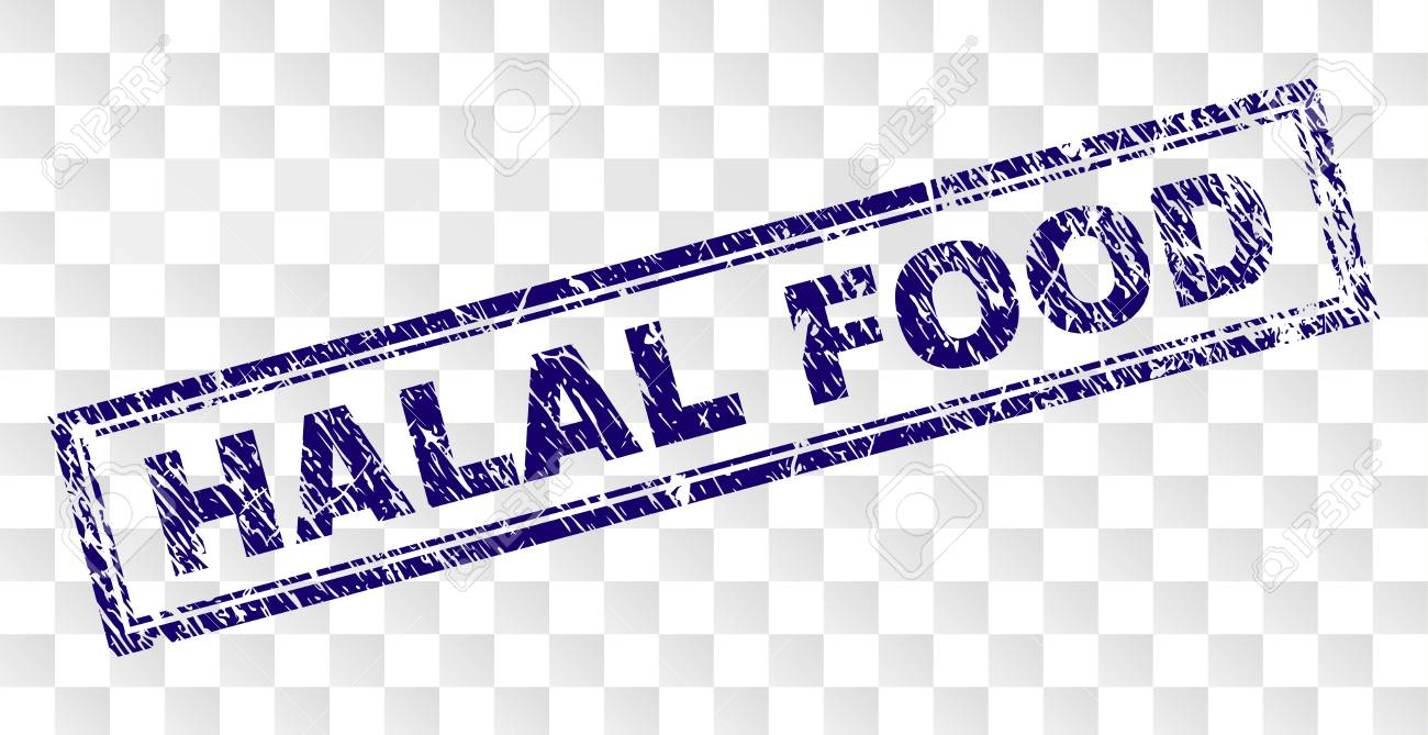 image relating to Printable Food Stamp Application titled HALAL Food items stamp seal print with rubber print layout and double..