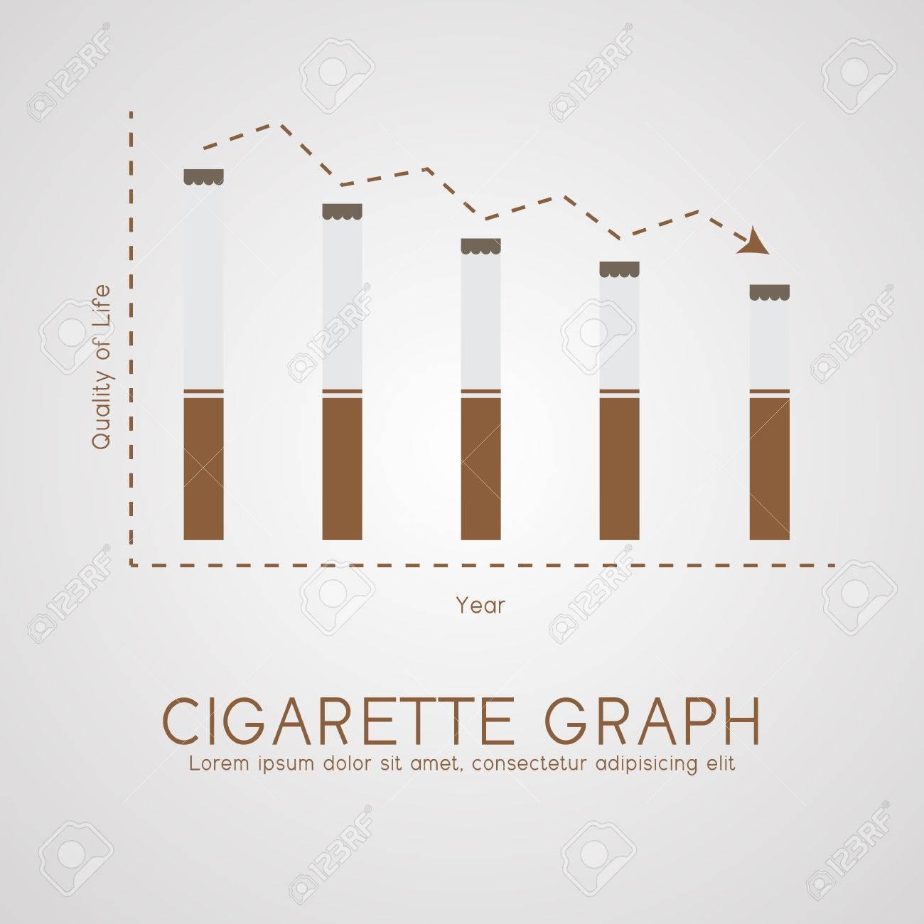 Vettoriale Vita Piatta Grafico Sigarette E Il Concetto Di Età