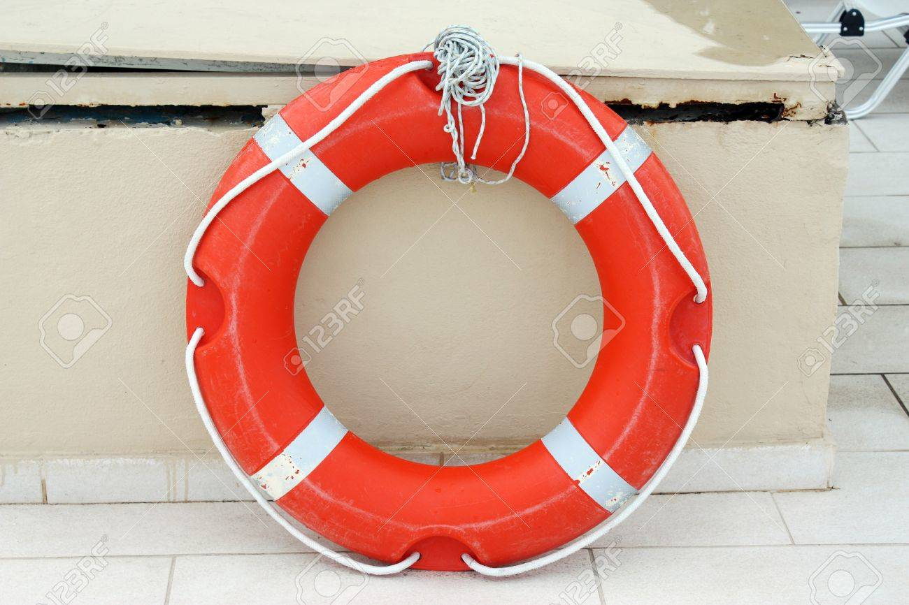 Lifebuoy Attached to a Wall Stock Photo - 7618617