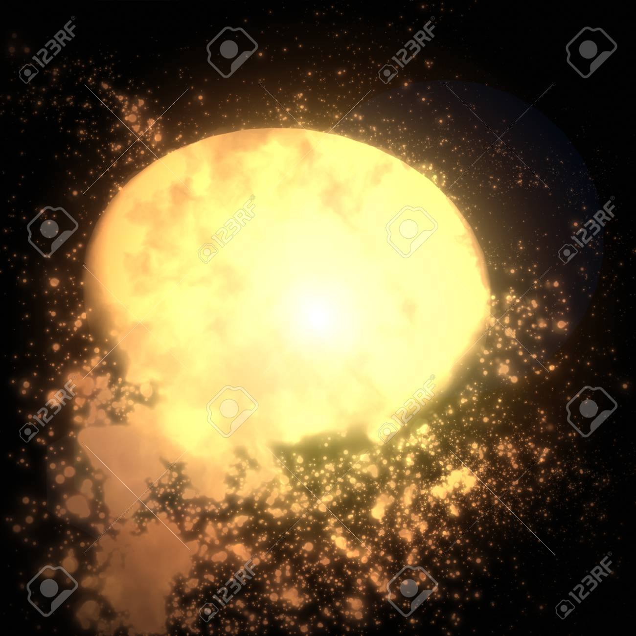 The brightly glowing space object in an unknown galaxy Stock Photo - 13896930