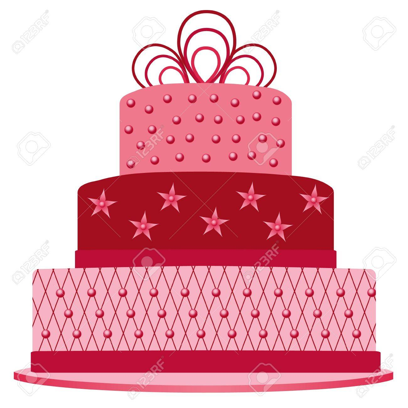 pink cake Stock Vector - 13680323