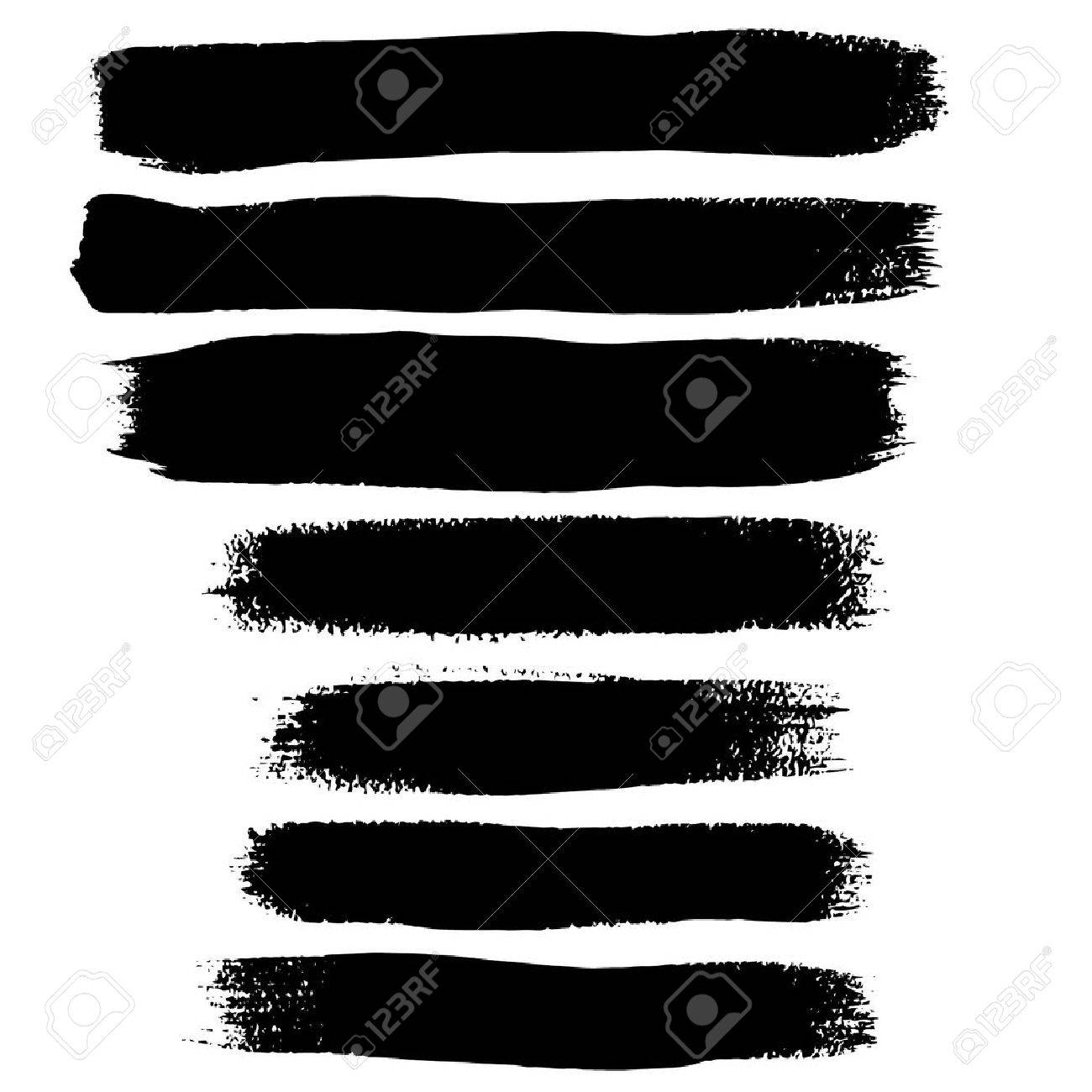 black ink brush strokes royalty free cliparts vectors and stock rh 123rf com watercolor brush strokes clipart Brushstroke Dove Clip Art