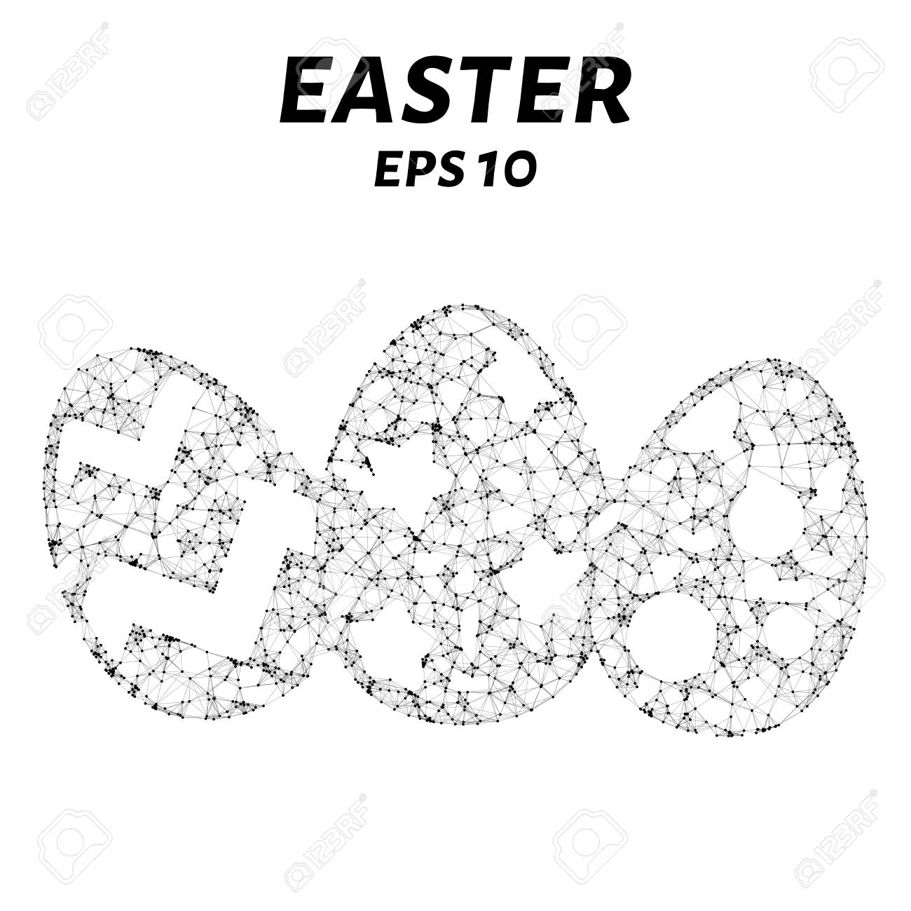 Easter consists of points, lines and triangles  The polygon shape