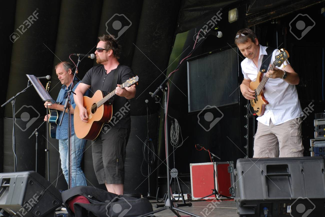 Tenterden, England - July 3, 2010 - The Varlies, British indie rock/pop band, perform at the Tentertainment music festival. Stock Photo - 11720038