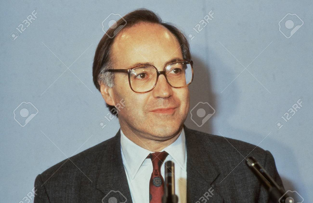 London, England - June 27, 1991 - Rt.Hon. Michael Howard, Secretary of State for Employment and Conservative party Member of Parliament for Folkestone and Hythe, attends a party conference. In November 2003 he became Leader of the Conservative party. Stock Photo - 12779100