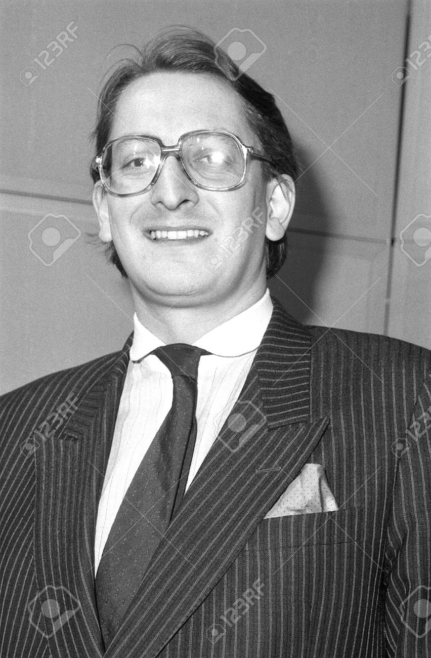 London, England - December 12, 1990 - Christopher Frazer, Conservative party Parliamentary Candidate for Peckham, attends a photo call at Conservative Central Office. Stock Photo - 13824342