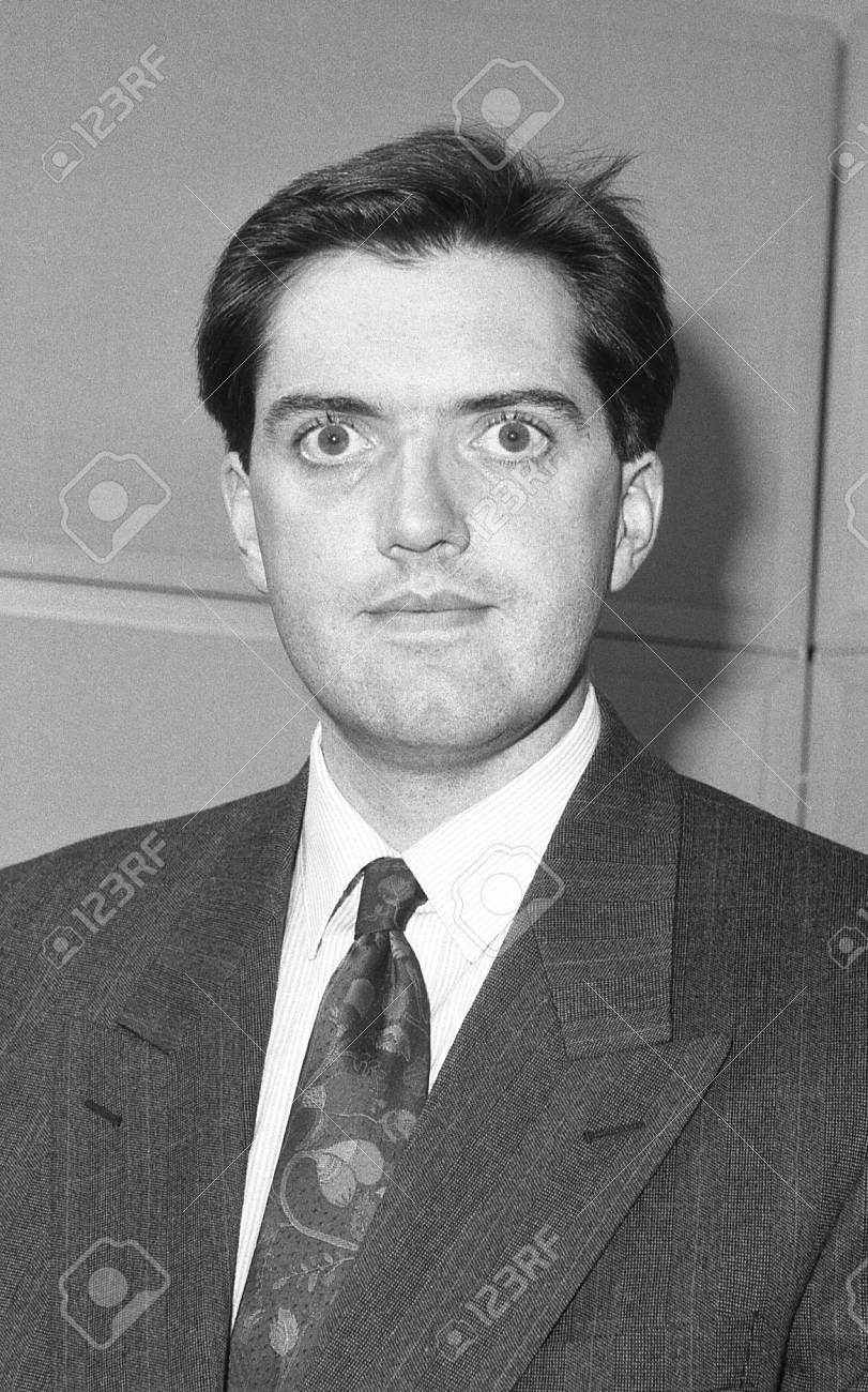 London, England - December 12, 1990 - Mark Jones, Conservative party Parliamentary Candidate for Islington South and Finsbury, attends a photo call at Conservative Central Office. Stock Photo - 13824341